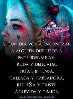 al bundi amor y pas jajaja Hailey Quinn, Joker And Harley Quinn, Spanish Quotes, Sentences, Love Quotes, Sad, Thoughts, Humor, Kawaii