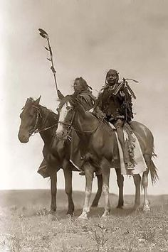 Two Atsina Chiefs. 1908 by Edward S. Curtis.