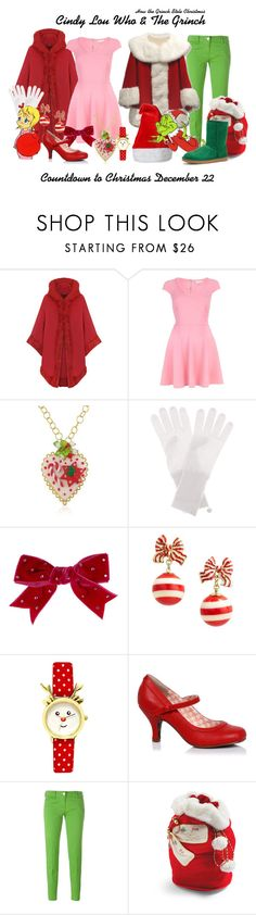 """How the Grinch Stole Christmas"" by sparkle1277 ❤ liked on Polyvore featuring WearAll, River Island, Dolci Gioie, Jardin des Orangers, Tarina Tarantino, Kate Spade, Jacob Cohёn, Frontgate and UGG"