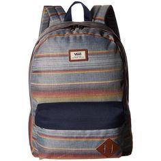 Vans Old Skool II Backpack (Blue Mirage Rockaway Stripe) Backpack Bags (170  RON) ❤ liked on Polyvore featuring men s fashion 7b84412e32483