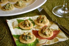 Lawyer Loves Lunch: Spinach and Caramelized Onion Canapés for a New Year
