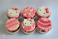 My first Hello Kitty birthday cupcakes!