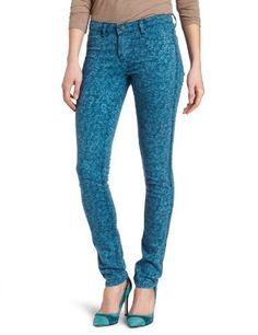 Calvin Klein Jeans Womens Reversible Ultimate Skinny Jean Blue Coral 4 *** Continue to the product at the image link.