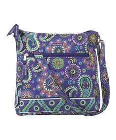 Look at this #zulilyfind! Purple Paisley Punch Crossbody Bag #zulilyfinds