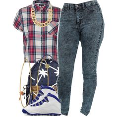 A fashion look from July 2014 featuring Topshop tops, MCM backpacks and Social Anarchy earrings. Browse and shop related looks.