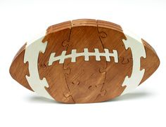 Football Puzzle and Children's Decor made from Wood - Children's Game. $19.99, via Etsy.