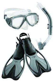 Speedo Adult Adventure Mask / Snorkel / Fin Set
