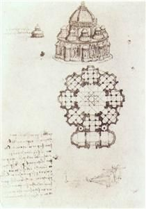 Study of a central church - Leonardo da Vinci