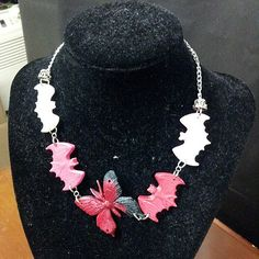 #Bats N' Butterfly #resin #necklace #jewelry for sale $15 | Flickr - Photo Sharing!