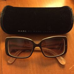 Marc by Marc Jacobs sunglasses Like new, in perfect condition. Brown with white trim. Comes with case. All offers considered!! Marc by Marc Jacobs Accessories Sunglasses