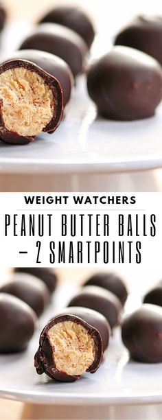 most current photos Health snacks sweet board technology, Peanut Butter Balls - 2 SmartPoints Watchers. Weight Watchers Desserts, Ww Desserts, Dessert Recipes, Weight Watchers Lasagna, Plats Weight Watchers, Weight Loss, Ww Recipes, Candy Recipes, Recipes