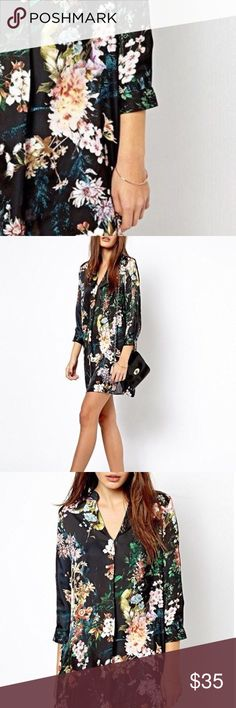 """🔐available soon🔐 Shirt Dress vibrant print, bold design, can be worn alone or with other staple pieces like leggings or jeans, vintage style, 100% polyester, v-neck, 3/4 length sleeves  ❤Add this listing to your """"likes"""" & I'll send you a notification when it's in stock. 🛒Limited quantities so act fast when you get your notification. ⁉️I'm happy to answer all your questions, please ask them before you buy so I can make your purchase in my closet absolutely perfect. Dresses"""