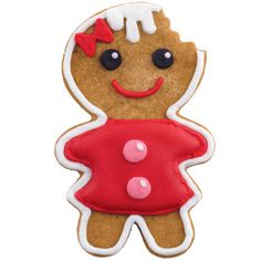 Irresistible Gingerbread Girl Cookie - This sweet little cookie won't last long on your holiday dessert table. Description from pinterest.com. I searched for this on bing.com/images