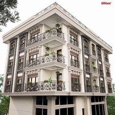 36 ideas apartment building city architecture for 2019 Modern Residential Architecture, Architecture Résidentielle, Cultural Architecture, Building Facade, Building Design, Facade Design, Exterior Design, Classic House, Numb