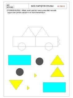 Shape Worksheets For Preschool, Preschool Learning Activities, Fun Activities For Kids, Preschool Activities, Kindergarten Colors, Teaching Shapes, Shapes For Kids, Art Drawings For Kids, Kids And Parenting