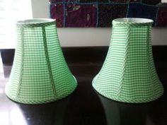 Lime Green Gingham Lampshades