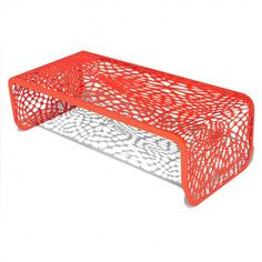 Coral inspired coffee table. Incorporate color into your home decor!   Source: HomeDesignCorner.com