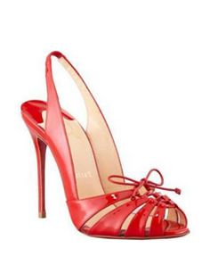 Christian Louboutin High Heel Corsetica Patent Leather Pvc Sandals