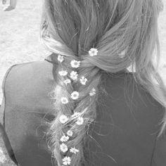 flowers in her hair..