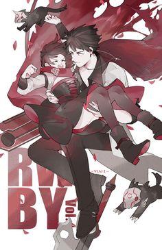 Ruby Rose and Qrow Branwen Dc Anime, Rwby Anime, Rwby Fanart, Anime Art, Elle Fanning, Tokyo Ghoul, Neon Katt, Rwby Qrow, Qrow Branwen