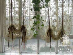 French Country Window Treatments | French Country Hand Crochet Lace Balloon Shade ... | Window treatments