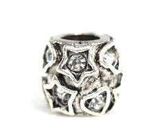 Crystal, sliver Slider Bead by FebruaryGEM. Buy in Single/5/8/10 https://www.facebook.com/pages/FebruaryGem