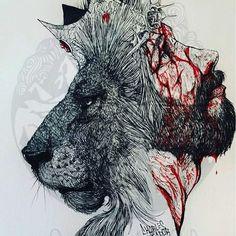 So powerful! He was the lion all along! Bible Art, Bible Scriptures, Jesus Drawings, Lion And Lamb, Jesus Tattoo, Jesus Wallpaper, Prophetic Art, Jesus Art, Biblical Art