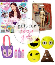 Five categories of age-appropriate, cool gifts for tween girls.