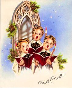 Joyful Christmas choir.