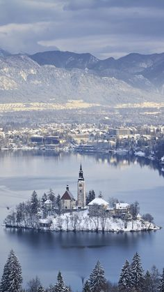 Bled Island on the  Lake Bled, Slovenia