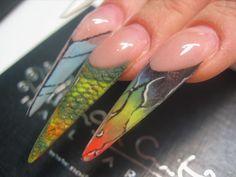 Acrylic Nails by Svetlana Leino www.blackouthair.fi