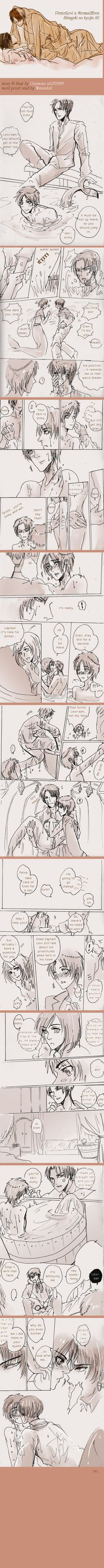 SnK'AU : Pirate!Levi x Mermaid!Eren part11 by illuscarymono.deviantart.com on @DeviantArt