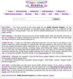 Karen's Whimsy - free public domain images