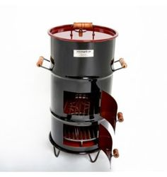 Cilindro Parrillero 16 Galones 38 cm Barrel Smoker, Drum Smoker, Best Offset Smoker, Diy Wood Stove, Garden Shed Interiors, Custom Bbq Pits, Fire Pit Bbq, Diy Grill, Bbq Island