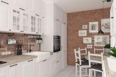 Szukacie pomysłu na ścianę w kuchni? Cegła oraz materiały ją imitujące są ciekawym rozwiązaniem zarówno do kuchni nowoczesnych, jak i klasycznych.