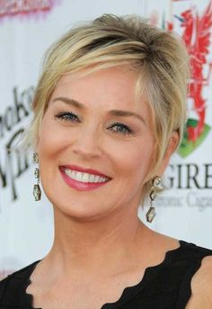 Sharon Stone Short Haircut