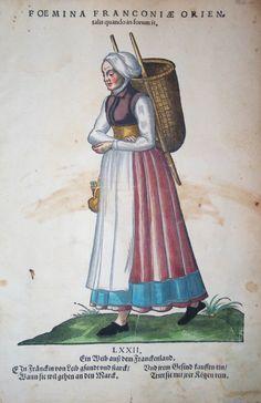 Jost Amman für Hans Weigel - FRANKEN: Foemina Franconia Orientalis quando in forum it. Ein Weib auß dem Franckenland 1577 http://www.pahor.de/data/product-list/53680.jpg