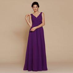 V-neck pleated bodice chiffon floor length dress for girls  Read More:     http://www.weddingsred.com/index.php?r=v-neck-pleated-bodice-chiffon-floor-length-dress-for-girls.html