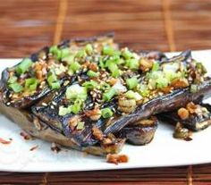 Grilled Asian Eggplant With Ginger Sauce - Photo #2 From Purple Recipes For Your Pink Health | ifood.tv