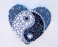 etsy.com/shop/Heart2HeartMosaics ~ A whole lota love goes into every mosaic I create ♥ | Heart Mosaic | Mosaic Heart |