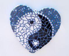 etsy.com/shop/Heart2HeartMosaics ~ A whole lota love goes into every mosaic I create ♥   Heart Mosaic   Mosaic Heart  