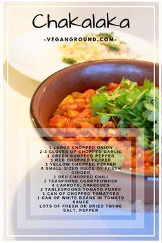 Chakalaka - The Best Authentic Mexican Recipes South African Dishes, South African Recipes, Ethnic Recipes, Easy Healthy Recipes, Gourmet Recipes, Vegetarian Recipes, Braai Recipes, Pizza Recipes, Vegetarian Italian