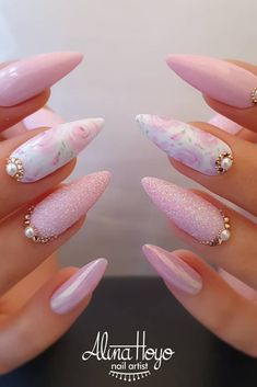 30 Hottest Nails Collection 2019 To Make You Look Trendy This Year Valentine Nail Art Sparkle White Nails Environmentally friendly materials that will be good to your health High Toughness that will not crack Suitable for any occasions:party,holiday, Acrylic Nail Designs, Nail Art Designs, Best Acrylic Nails, Indian Nail Designs, Indian Nail Art, Hot Nails, Pink Nails, Pastel Nail, Ombre Nail