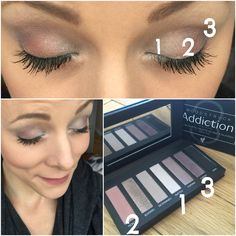 An Autumn/Fall soft smokey eye in just 3 steps using the Moodstruck Addiction Palette 3 by Younique!!  Get yours: www.emmaslovelylashes.com   #fallmakeup #autumnmakeup #smokeyeyes