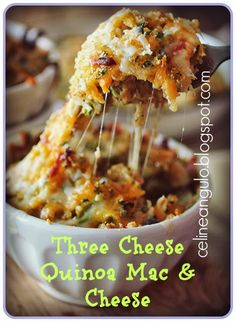 Clean Yourself Fit: Three Cheese Quinoa Mac & Cheese