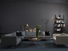 Swedese showroom Stockholm Madison sofa - Breeze table Libri