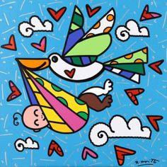 Romero Britto cegonhas