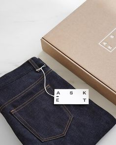 """ee233cb899d36 ... Instagram  """"Our first look at the new Raw Denim Jean from  asket – cut  and sewn in Italy from a rigid mid-weight Japanese denim and available in  two…"""""""