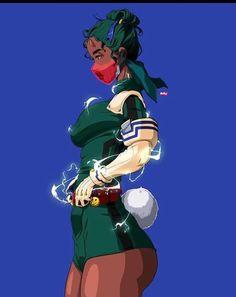 Black Cartoon Characters, Black Girl Cartoon, Black Love Art, Black Girl Art, Cute Anime Character, Character Art, Anime Negra, Deku Cosplay, Drawings Of Black Girls