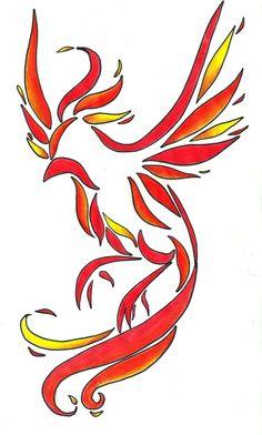 Phoenix tattoo... minus the super obvious coloring